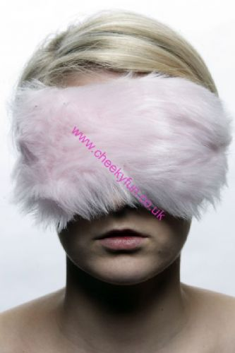 Blindfold - Faux Fur - Pink